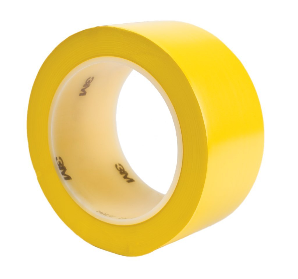 3M T968471Y Yellow #471 Solid Vinyl Tape, 3 x 36 yd. (Pack of 12) by 3M B001HT7SAI