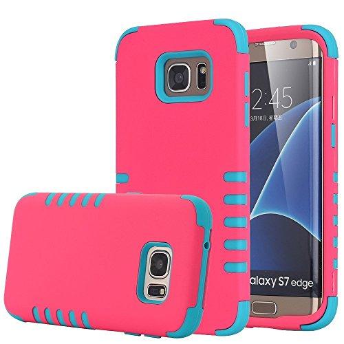Shockproof Armor Case for Samsung Galaxy S7 Edge (Crystal/Black) - 6