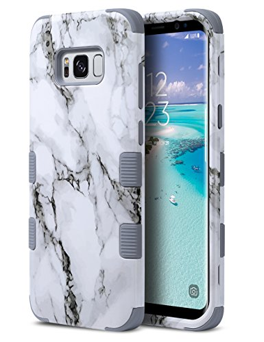 ULAK Galaxy S8 Plus Case, Anti Slip S8 Plus Case Shock Resistance Protective Cover for Samsung Galaxy S8+ Plus (2017) with Hybrid High Soft Silicone + Hard PC Case(Artistic-Marble Pattern)