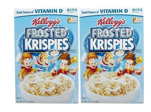 Krispies Cereal - Kellogg's Frosted Rice Krispies Cereal - 12.5 oz - 2 Pack