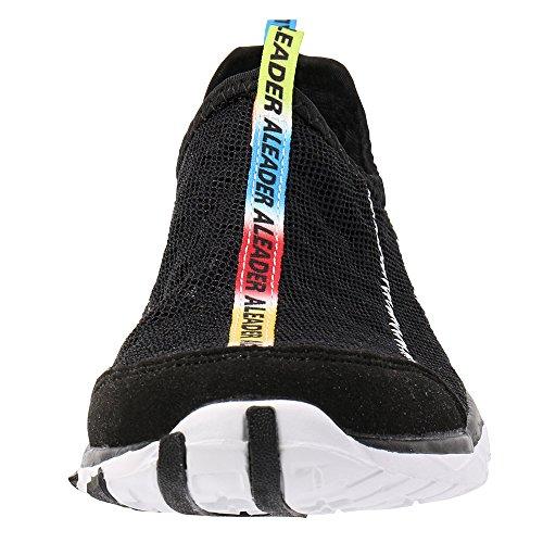 ALEADER Womens Mesh Slip on Water Shoes Black 4OOM3RrC