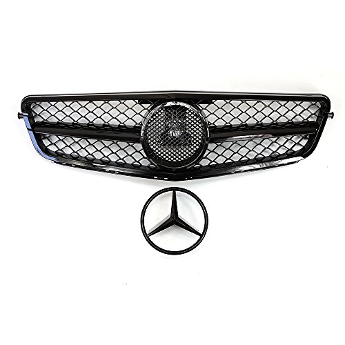 Mercedes Benz W204 C-Class Front Grill Grille AMG Black, Compatable with Mercedes Benz 2008-13
