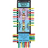 Who's Waiting Classroom Clip 'N' Track Pocket Chart
