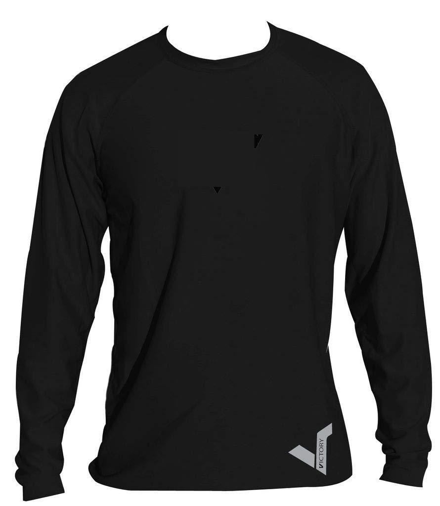 KoreDry Victory Men's Long Sleeve T-Shirt - Water-Resistant UPF 50+ Sun Protection/Block, X-Large, Black