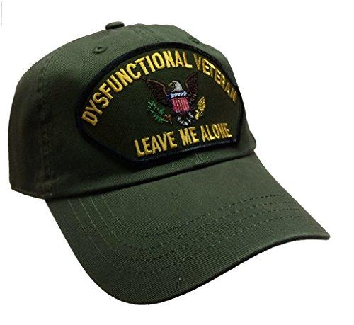 Dysfunctional Veteran Hat 100% Cotton Army Green Ball Cap