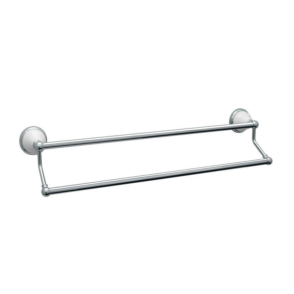 Gatco 5286 24-Inch Franciscan Double Towel Bar, Chrome