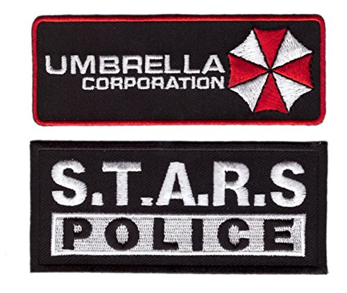 Umbrella Corps Costume (Black Umbrella Corp. + STARS Police Chest Tag Resident Evil Costume Halloween Patch)