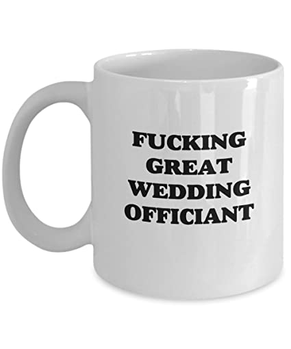 Amazon Funny Wedding Officiant Gag Gift Coffee Mug Kitchen