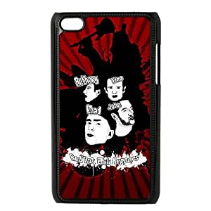 iPod 4 Black Cell Phone Case HUBYLW2081 RHCP Red Hot Chilli Peppers Plastic Back Phone Case Cover