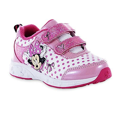 Disney Toddler Girls Minnie Mouse Sneaker, Pink/White (9) for $<!--$29.97-->