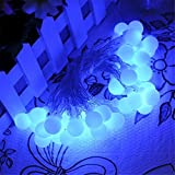 STARSHINE Battery Powered Blue Berry Ball Shaped LED Fairy Lights 4M 40LED - ON/OFF/Flash Functions, Perfect for Christmas Wedding and parties