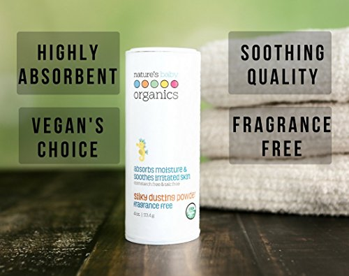 Nature's Baby Organics USDA Silky Dusting Powder, Fragrance Free, 4 oz. (2-Pack)| Skin Relief - Kids & Adults! Gentle, Soft for Chafing | No Synthetics, Preservatives, Cornstarch, or Talc by Nature's Baby Organics (Image #1)