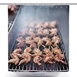 Durable Shower Curtains Street Food Thai Barbecue Grilled Chicken_509003165 Polyester Bathroom Shower Curtain Set With Hooks