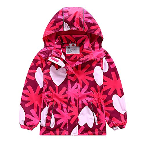 C&X Girls Rain Jacket – Waterproof Jacket for Girls with Hood,Best for Rain School Day,Hiking and Camping
