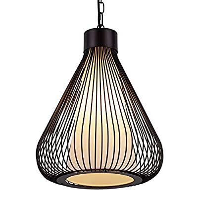 AIDOS Industrial Retro Cage Ceiling Pendant Light, Shades Metal Basket Lamp, Vintage Wire Pendant Kitchen pendent lamp, Oil Rubbed Bronze Hanging Pendant Light LOFT Wire Cage Guard
