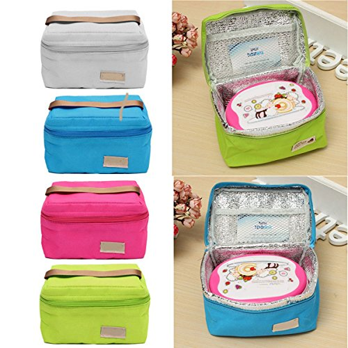 Thermal Cooler Lunch Box Storage Bag Portable Carry Tote(Random: Color)