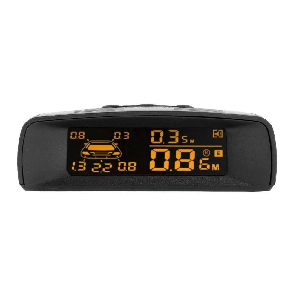 kit LCD sensore di parcheggio posteriore Reverse backup radar System W//8 /sensori sistema di allarme auto Reverse backup radar anteriori e posteriori con display prettygood7 /sensori di parcheggio