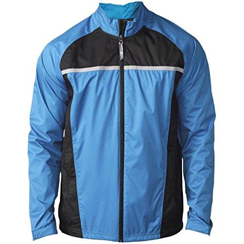 adidas Golf Men's Climastorm Essential Packable Rain Jacket, Bahia Blue/Black, X-Large