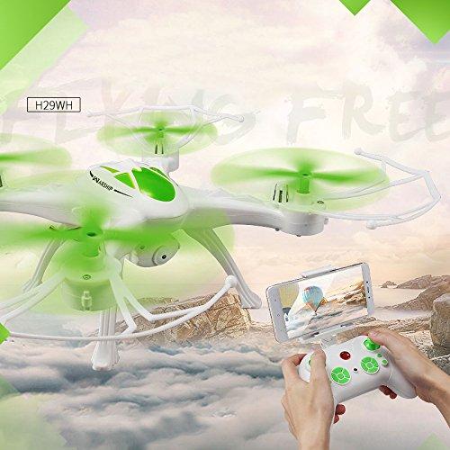 Springdoit Quadcopter WiFi Echtzeit-Übertragung Headless-Modus 4CH 6-Achsen-Wireless-Drohne Hubschrauber Spielzeug Geschenk