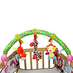 skk baby musical stroller crib activity bar toys car seat arch hanging rattle toy. Black Bedroom Furniture Sets. Home Design Ideas