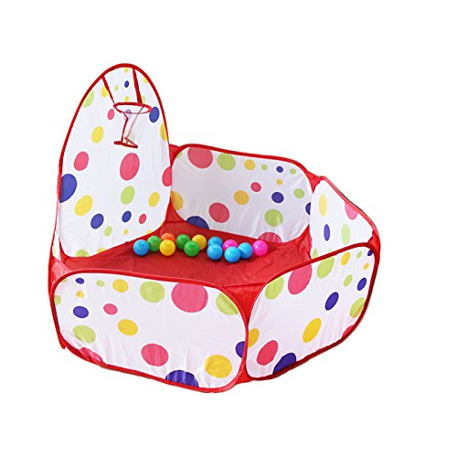 Leoie Portable Kids Children Ball Pit Pool Play Tent for Baby Indoor Outdoor Game Toy (Tent and Balls Sold Separately) 1.5 Meters - OPP