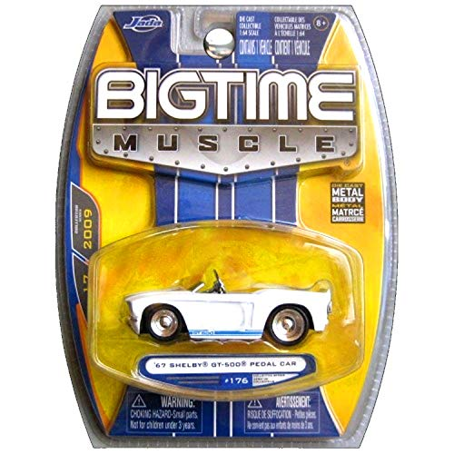 JADA Bigtime Muscle 1967 Ford Mustang Shelby GT-500 GT500 Pedal Car White ()