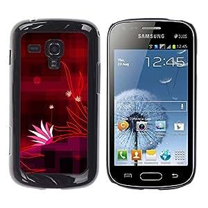 Rojo original rayas a cuadros - Metal de aluminio y de plástico duro Caja del teléfono - Negro - Samsung Galaxy S Duos S7562
