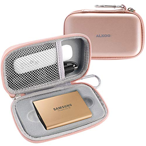 Case Compatible for Samsung T5 T3 Portable 250GB 500GB 1TB 2TB SSD USB 3.1 External Solid State Drives - (Rose Gold)