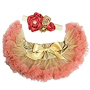 Kirei Sui Baby Gold Blush Pink Pettiskirt Headband Set