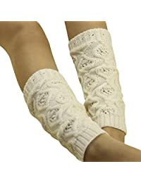 Tonsee Children Kids Hollow Out Boot Cuffs Knit Leg Warmer