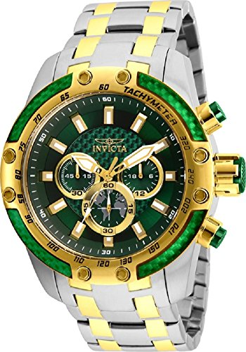 Invicta Speedway Chronograph Green Dial Mens Watch 25948