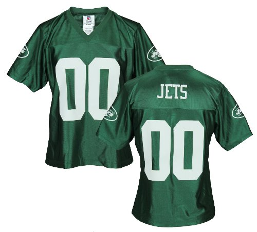 (New York Jets Womens NFL Dazzle Jersey, Green)