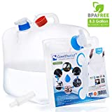 Gowithwind 5.3 Gallon Collapsible Water Container with Spigot,FDA BPA Free Portable Water Carrier Bag,Foldable Water Storage Jug for Outdoor Camping Hiking and Emergency Hurricane Flood Earthquake