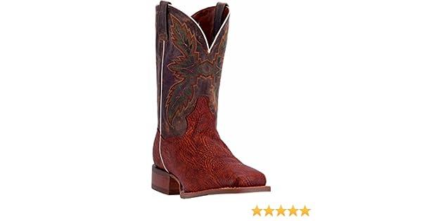 e9b21a5e66e Dan Post Men's 11'' Clark Broad Square Toe Western Leather Casual Boots