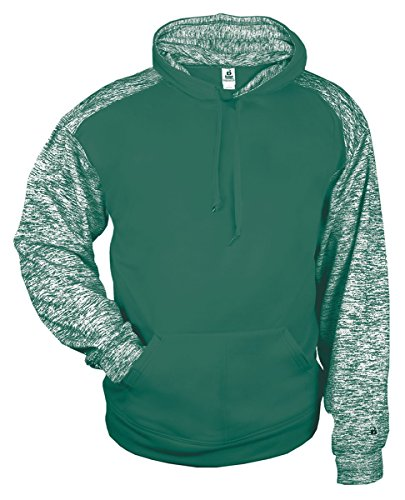 Badger Mens Blend Sport Hooded Sweatshirt (1462) -Forest/Fores -3XL