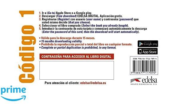 Código ELE 1 - tarjeta app alumno Métodos - Adolescentes ...