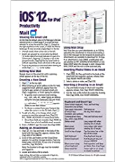 iOS 12 Mail, Contacts & Calendar Quick Reference Guide for iPad, iPhone, and iPod touch (Cheat Sheet of Instructions, Tips & Shortcuts - Laminated Guide)