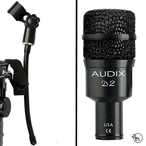 Audix D2 Hypercardioid Dynamic Microphone and DVice Gooseneck Mic Clip by Audix