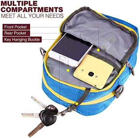 Multifunctional Wearproof Small Shoulder Bag for Men Women Boys Red REDCAMP Small Messenger Bag Crossbody Bag for Outdoor Travel Sport