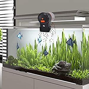 Mylivell Automatic Fish Feeder,Aquarium Tank Timer Feeder Vacation Auto Fish Feeder Battery-Operated Automatic Turtle/Gold Fish Weekend Holiday 2 Fish Food Dispensers 6