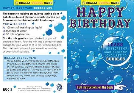 Tarjeta de felicitación de cumpleaños con instrucciones ...