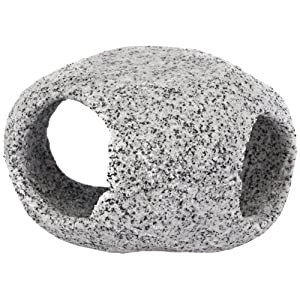 Penn Plax Stone Replica Aquarium Decoration Realistic Granite Look with Fish Hideaway Stackable 63
