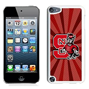 Fashionable And Unique Designed With NCAA Atlantic Coast Conference ACC Footballl North Carolina State Wolfpack 4 Protective Cell Phone Hardshell Cover Case For iPod 5 Phone Case White