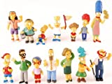 The Simpsons 14 Piece Figure Set Featuring Homer Simpson, Bart Simpson, Ned Flanders, Marge Simpson, Milhouse, Rod Flanders, Todd Flanders, Otto Mann, Ralph Wiggum, Groundskeeper Willie, Mrs. Krabopple, and Sideshow Mel - Figures Range from 2.5' to 5' Tall