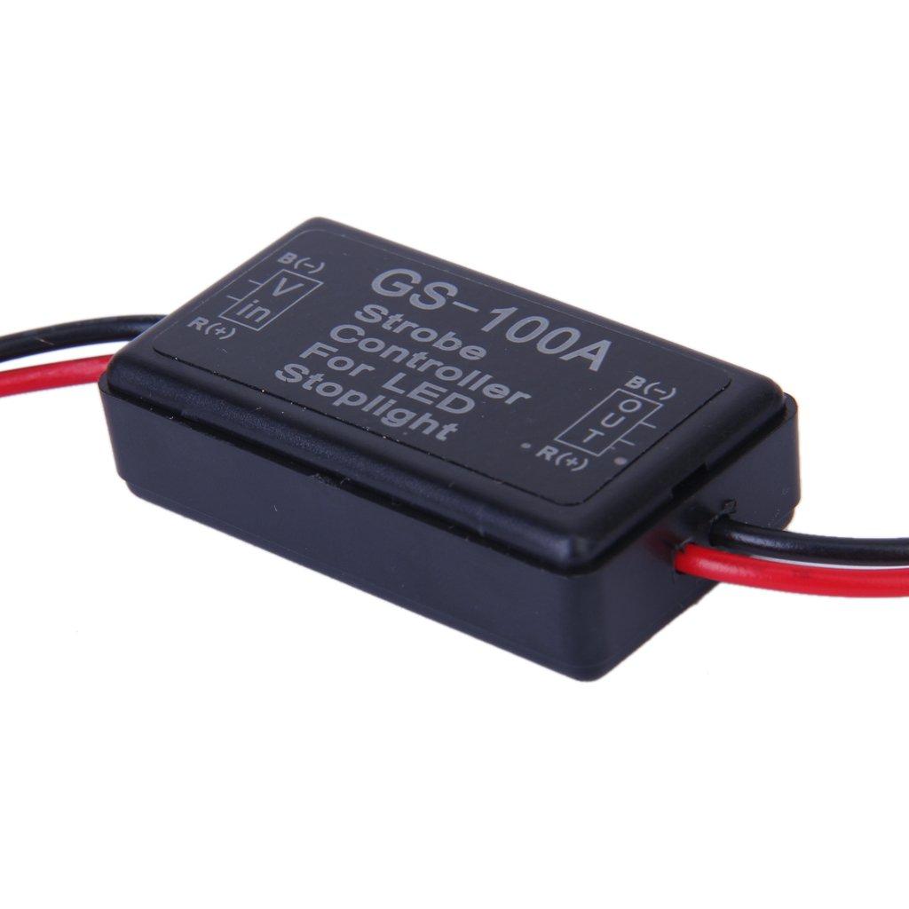 Sharplace 2X Wasserdichte 12V LED Flasher Modul Blitzlicht Controller Modul fü r Bremsleuchte Bremslicht