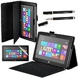 Tasche für Microsoft Surface RT Hülle Schutzhülle Case Cover Pen schwarz