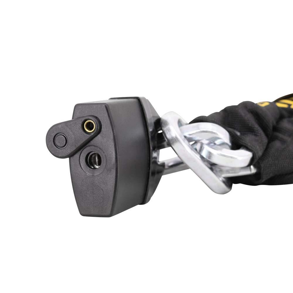 110db Alarm Disc Lock FD-MOTO 10mm*1.2m Motorbike Heavy Duty Chain Lock PadLock Motorcycle Handlebar Throttle Grip Lock