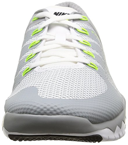 Nike Men's Free Trainer 5.0 V6 White/White/Wlf Gry/Mtllc Slvr Training Shoe 10 Men US cheap pay with visa outlet locations cheap online cheap official site smxUQJpsZ