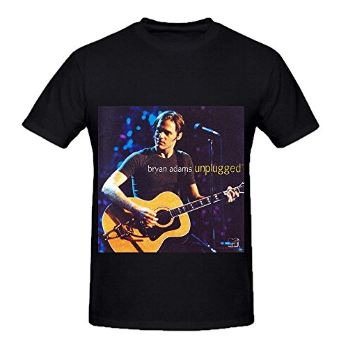Bryan Adams Unplugged Soul Men Crew Neck Art Shirt Black