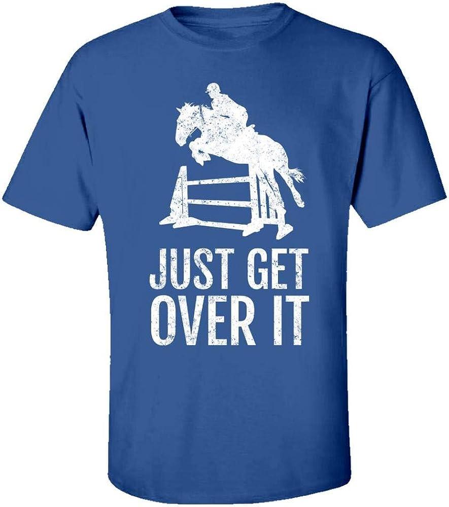 Kids T-Shirt Vintage Equestrian Horse Jump Just Get Over It